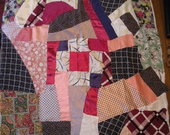 Vintage Crazy Quilt Starter Piece To Be Finished