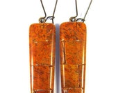 CLEARANCE 50% OFF Polymer Clay Earrings - Fabulous Faux Sponge Coral Mosaic Earrings