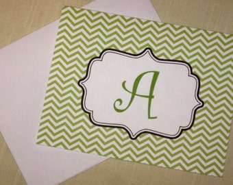 Custom Note Cards - Set of 8 Chevron Cards - Mix and Match Colors
