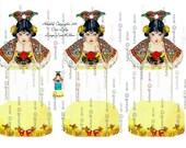 Instant DIGITAL DOWNLOAD LARGE Ribbon Thread Tidies Ribbon Twine Floss Tidy Bobbin Keeper Card Set Printable  Party Gifts