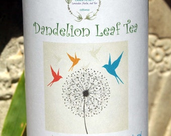Dandelion Tea - Herbal Tea, Tea, Tisane, Tea in Tin, Gift Tea, Loose Tea, Caffeine Free, Sugar Free, Antioxidant, Loose Leaf Tea