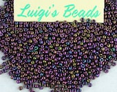 11/0 Round Toho Japanese Glass Seed Beads #85- Metallic Iris Purple 15g
