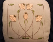 Arts and Crafts Embroidery kit Carrie's Garden Pillow Embroidery Kit