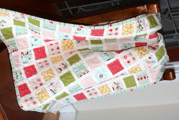 Kit Vintage Baby Quilt Pink Girl Fabric Amp Backing By