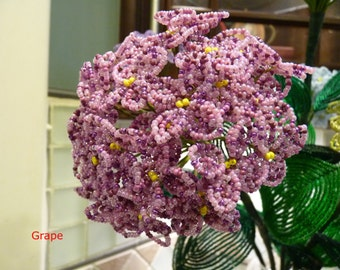 One Stem Hydrangeas -- French Beaded Flower (Free Shipping, you pick the color)