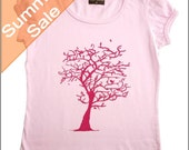 Size 2yr -Light Pink puff sleeve T-shirt with Pink tree