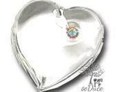 2 pcs De-stash Swarovski 6221 / 4 16mm x 15.5mm Vintage Heart Charm Pendant