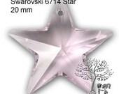 Destash 2 pcs Swarovski 6714 Star Pendant 20mm Light Sapphire or Rosaline or Crystal AB