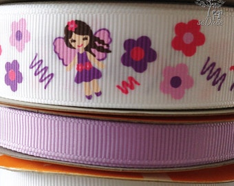 13 yards Princess Fairy Mix Lot Grosgrain Ribbon
