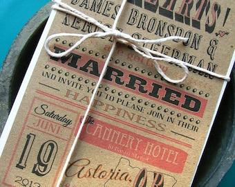 Your state wedding invitations: fun wedding invitations, unique wedding invitations, custom wedding invites, state