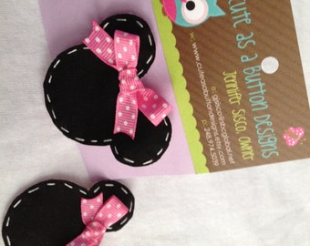 Minnie Mouse Hair Clip Barrette