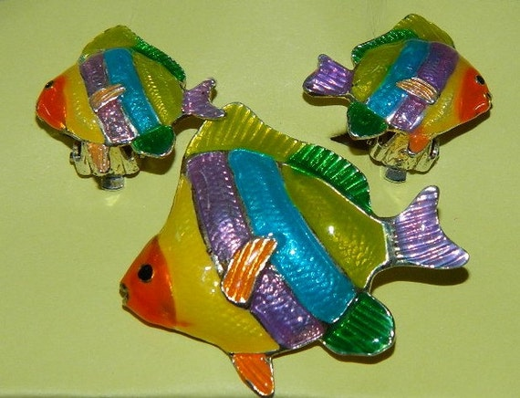 Rainbow Fish gay happy fish found at TheIDConnection on Etsy