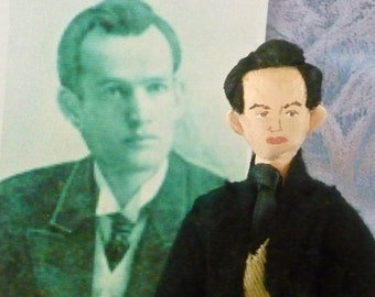 Harold Bell Wright Doll Miniature Art Collectible Author and Writer