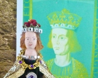 King William ii Medieval History Doll Art Miniature