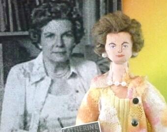 Catherine Marshall Author Doll Miniature Art