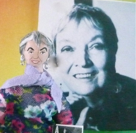 Madeleine L'Engle Doll Miniature Art Collectible Author of A Wrinkle in Time