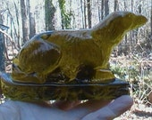 Rare 1800s Figureal  Bottle Glass Dog- 'End of Day' or Whimsey