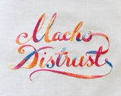 Macho Distrust Embroidery Artwork - giclee print