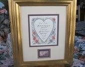 Reserved for Karen C. - Mother's Day - Vintage Print with Vintage Stamp - 8x10 - Framed