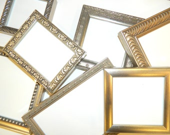 Set of 12 WARM SILVER  Frames for 25th Wedding Anniversary Party / Event