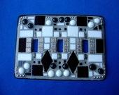 Manhattan Series Three Toggle Mosaic Switch Plate