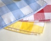 6 Lunchbox Appetizer Napkins  in Gingham Check by Dot and Army