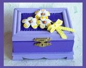 Trinket Box Lavender Floral Design