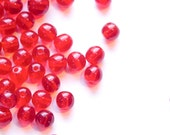 Vintage Translucent Red German Glass Beads 4mm grm045B