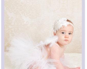 Baby White Tutu Skirt Infant Girl Tutu Dresses Baby White Tutu Dress 9 12 18 month