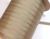 RESERVED FOR MAGGIE Beige Ribbon, Sandy Beige Grosgrain Ribbon 5/8 inch wide x 50 yards, Rayon Cotton Blend