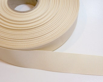 Cream Ivory Ribbon, Cream Grosgrain Ribbon 7/8 inch wide x 10 yards