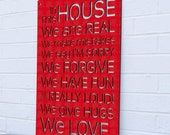 In This House sign quote (house rules, gift for mom)