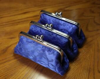 SALE - Royal Blue Lace Clutch