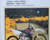 Clymer Yamaha YZ250 WR250Z Motorcycle Repair Service Manual