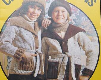 Vintage Patons Childrens Design Knitting Pattern Book
