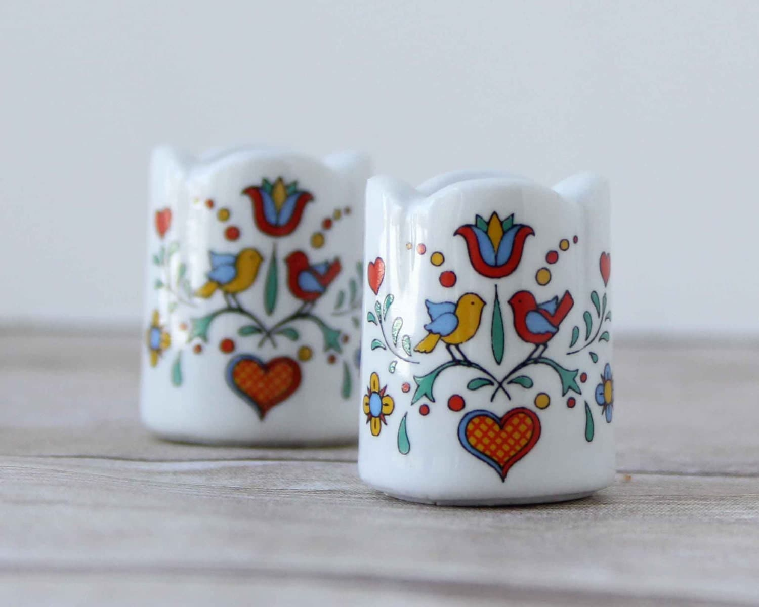 Funny Design Mini Candle Holders W Germany Love Bird Candle