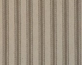 FLAWED Taupe Ticking Material | Ticking Stripe Material | Vintage Inspired Ticking Material | Twill Ticking Material | 40 x 44 | Plus 2 FG