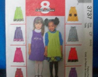 McCalls 3737 Girls Jumper  Sewing Pattern