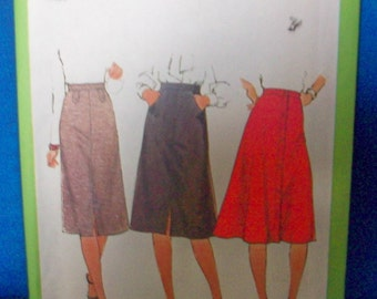 Simplicity 8241 Misses  gored skirt Sewing Pattern
