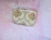 Vintage floral cosmetic case---RESERVED FOR SOPHIE---