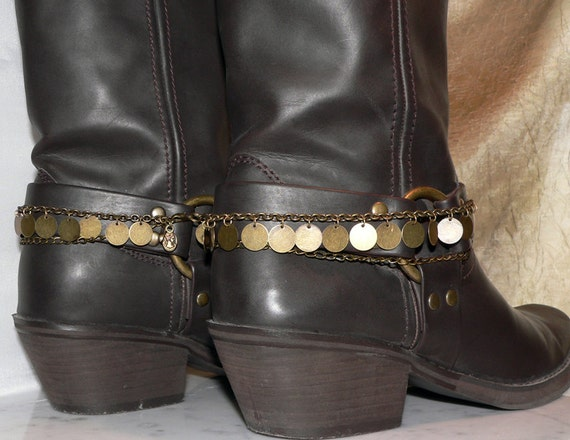 Boot Bracelet Western Cowgirl Bling Ankle Chain Accessory 1403