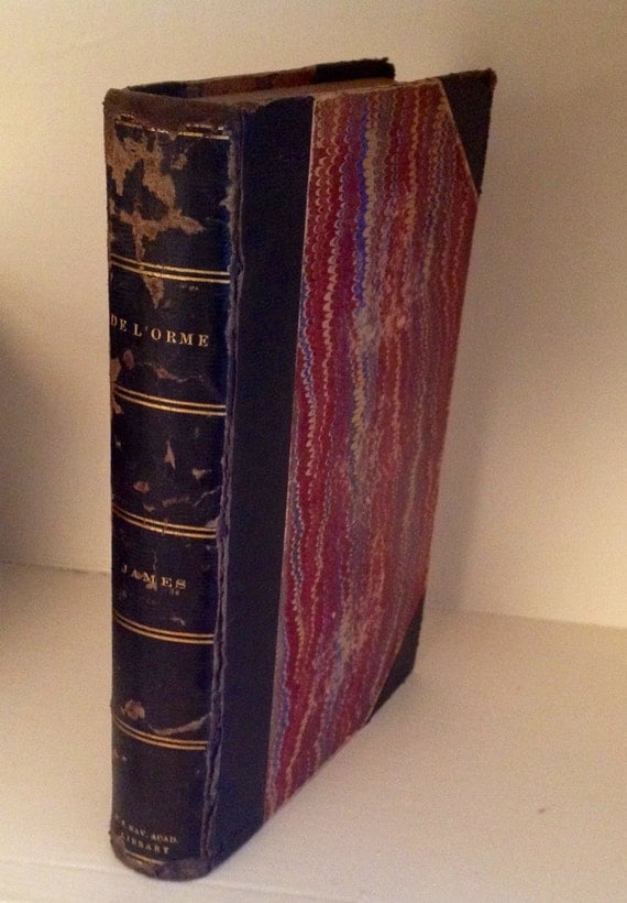 1848 De L'Orme by G P R James Esq Leather Bound London Gilded