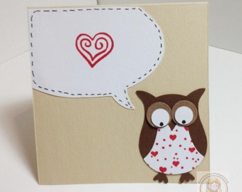 Owl Always Love You 3x3 Note Card
