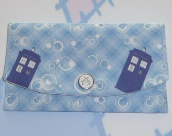 Police Box Plaid, Credit or Business Card Wallet