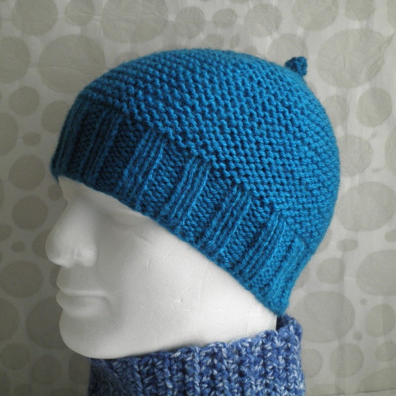 Knitting Patterns For Beginners Beanie : BEANIE KNITTING PATTERN for Beau-Belle Unisex Hat by RomeoRomeo