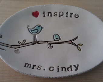 personalized teacher dish - made to order