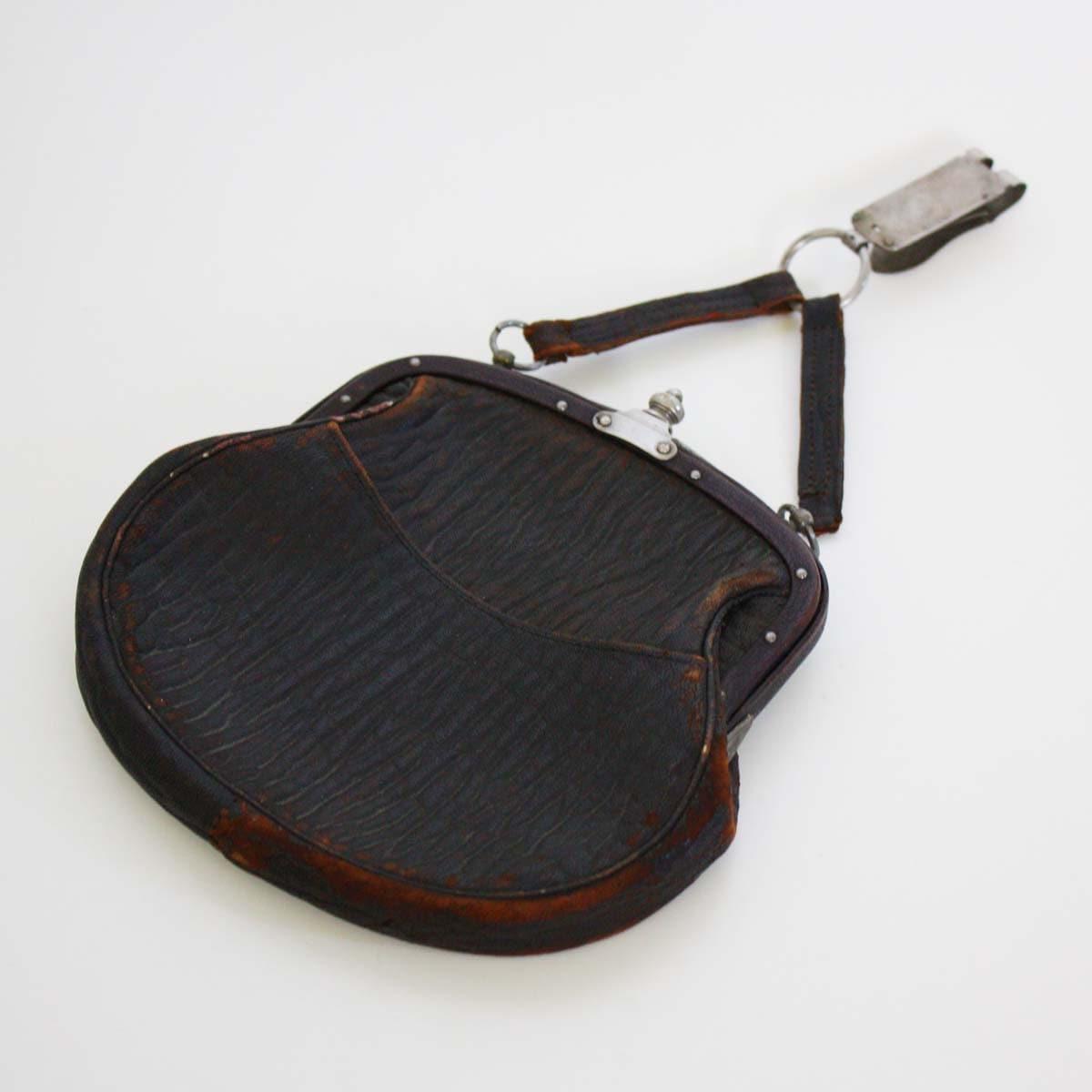 vintage leather belt purse c by backstashandbygones