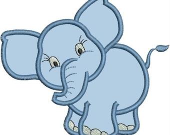 INSTANT DOWNLOAD Elephant Luna Applique designs 3 sizes