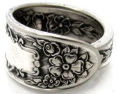 Mildred Spoon Ring (Choose Your Size) 1936 Silverware Pattern