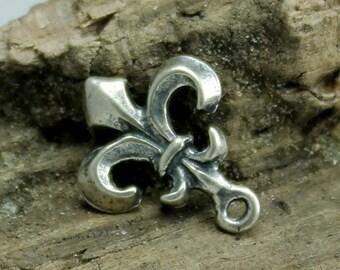 Fleur de Lis Charm Sterling silver SALE